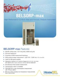 BELSORP-max