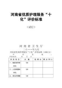 河南省优质护理服务