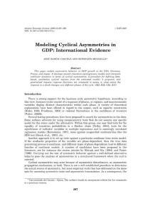 modeling cyclical asymmetries in gdp international evidence