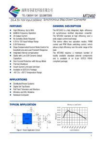 MT2492 (SOT23-6)宽电压输入2A高效同步降压DC芯片
