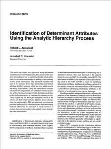 identification of determ..