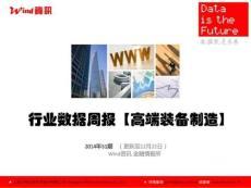Wind資訊-【Wind資訊】高端裝備制造行業數據周報.ppt