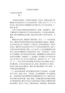 专业技术分析报告(范本)