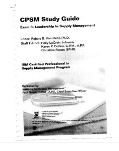 cpsm related documents