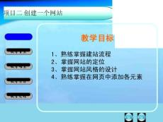 【PPT】-掌握网站的定位3、掌握网站风格的设计4、熟练掌握在网页