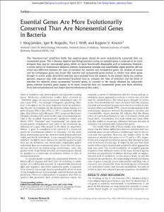 Essential Genes Are Mo..