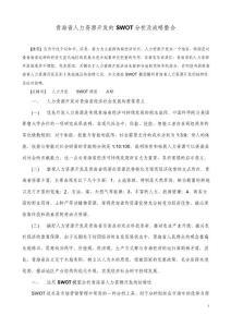青海省人力资源开发的SWO..