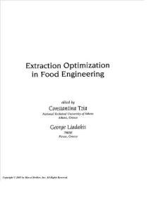食品工程中的提取优化Food..