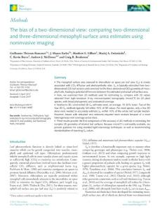 the bias of a two-dimensional view comparing two-dimensional and three-dimensional mesophyll surface area estimates using noninvasive imaging.[2017