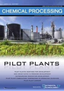 PILOT PLANTS - Operating Plants In The Chemical ...