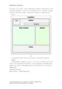 网页设计中黄金分割线布局