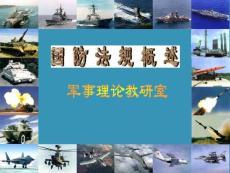《军事理论》-国防法规(01)