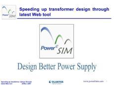 PowerEsim seminar Elantas 29Nov2007