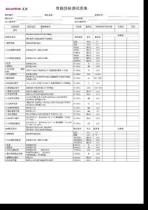 试验性能指标空表格3
