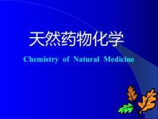 天然药物化学基础1.1概论