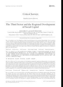 国外英语论文:The Third Sector and the Regional Development of Social Capital
