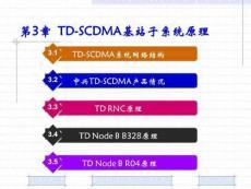 3G技术与基站工程 第3章  TD-SCDMA基站子系统原理.ppt