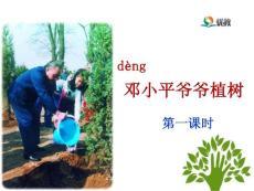 《邓小平爷爷植树》(第一课时 第二课时)(新部编人教版二年级下册获奖课件ppt)2套
