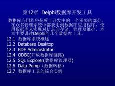 Delphi数据库开发工具PPT课件