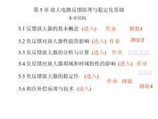北京航空航天大学《电子电路》第五章 [反馈原理与稳定化基础]