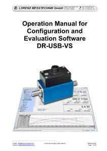 LORENZ MESSTECHNIK GmbH Operation Manual for Configuration and Evaluation Software DR-USB-VS