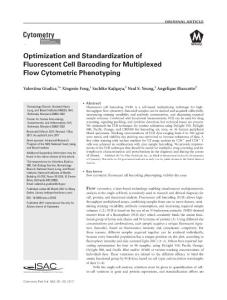 Optimization and Standardization of Fluorescent Cell Barcoding for Multiplexed Flow Cytometric Phenotyping
