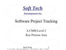 软件项目跟踪(英文)幻灯片资料