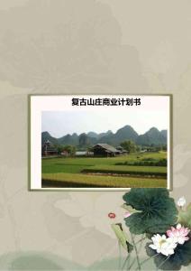 石燕湖休闲山庄复古山庄商业计划书.doc
