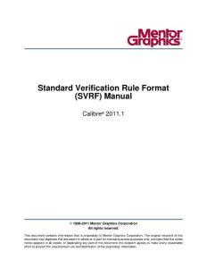 Standard Verification Rule Format Manual