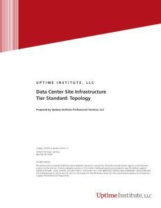 Data Center Site Infrastructure Tier Standard: Topology