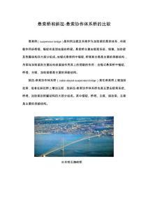 悬索桥和斜拉-悬索协作体系桥的比较
