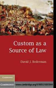 作为法源之一的习惯 Custom as a Source of Law