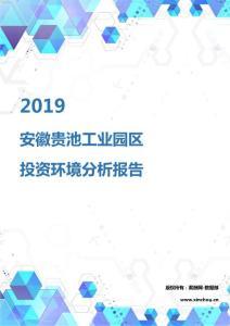 2019年安徽贵池工业园区投资环境报告.pdf