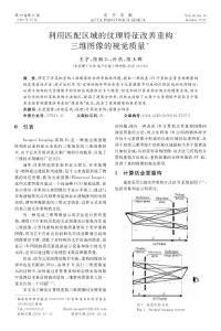 利用匹配区域的纹理特征改善重构三维图像的视觉质量