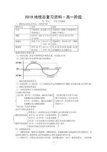 2019年高考复习-高中地理全..