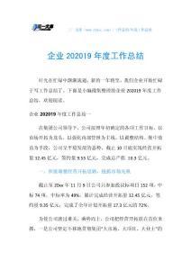 企业202019年度工作總結.doc