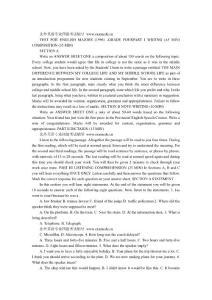 1996年英语专业四级TEM4考试真题