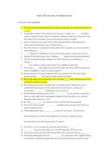 美国文学分章练习题题及答案