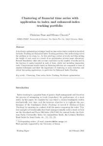 Clustering of financial time series with application to index and enhanced-index tracking portfolio