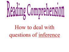 英語閱讀理解推斷題ppt課件