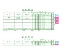 记账、收款、付款、转账凭证(打印版)模板