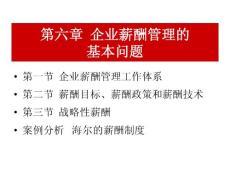 薪酬管理  06企業薪酬管理的基本問題(4)
