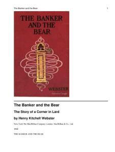 银行家和熊 the banker and the bear