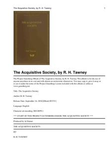 The_Acquisitive_Society
