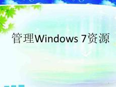 windows 7资源管理器ppt课件