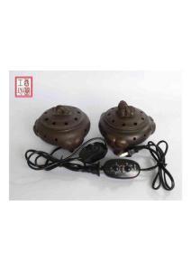 酉圆工坊·电子熏香炉·仿清乾隆年制镂空紫砂电子熏香炉