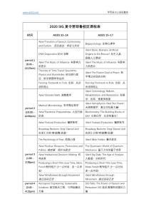 2020SIG夏令营耶鲁校区课程表
