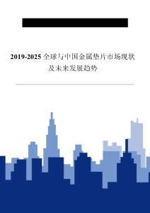 2019-2025全球与中国金属垫片市场现状及未来发展趋势