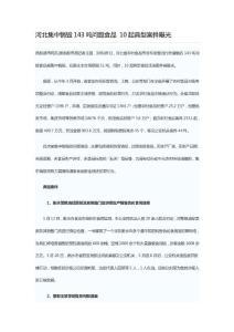 河北集中销毁143吨问题食品..