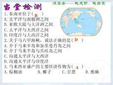 人教版初中地理七年級下冊第七章 我們鄰近的地區和國家第二節 東南亞課件(2)